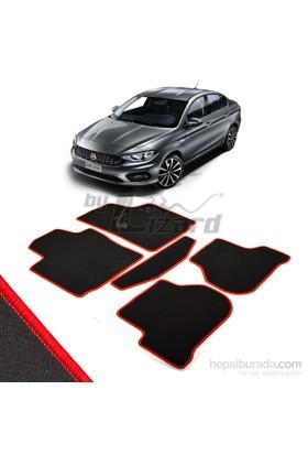 Fiat Egea Halı Paspas Seti Kırmızı Kenarlı-Siyah