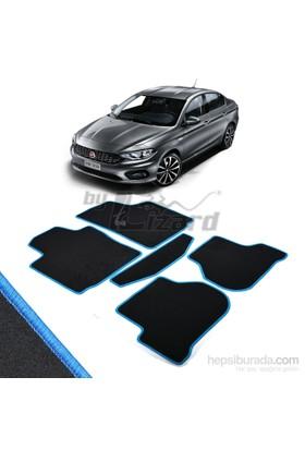 Fiat Egea Halı Paspas Seti Mavi Kenarlı-Siyah