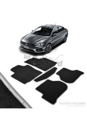Fiat Egea Halı Paspas Seti Gri Kenarlı-Siyah
