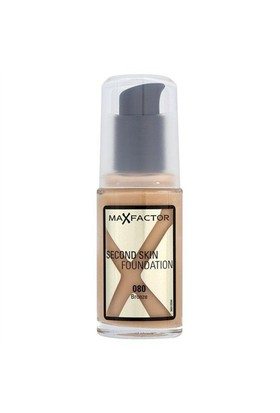 Max Factor Second Skin Fondöten- 080 Bronze