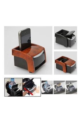 Dreamcar Çok Fonksiyonlu Bardaklık+Küllük+Telefon Tutucu Birarada Maun 4607002