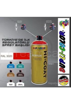 Dupli-Color Hi-Coat Ral 3020 Trafik Kırmızı Akrilik Sprey Boya 400 Ml. Made in Germany 406317