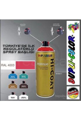 Dupli-Color Hi-Coat Ral 4003 Parlak Koyu Pembe Akrilik Sprey Boya 400 Ml. Made in Germany 406546
