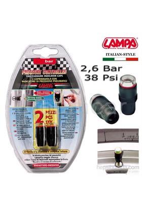 Lampa 2,6 Bar (38 Psi) Lastik Basınç Göstergeli Sibop Kapağı 02476