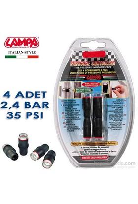 Lampa 2,4 Bar (35 Psi) Lastik Basınç Göstergeli Sibop Kapağı 4 Adet 02485
