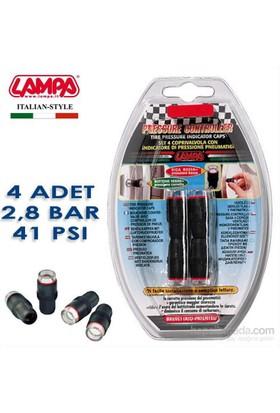 Lampa 2,8 Bar (41 Psi) Lastik Basınç Göstergeli Sibop Kapağı 4 Adet 02487