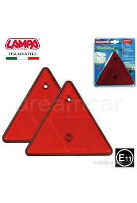 Lampa E11 Belgeli Kırmızı Reflektör Üçgen 2 Ad. 20542