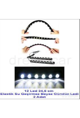 Dreamcar 12 Canon Beyaz Ledli Elastik Daylight 24,5 cm 2 Adet 56504
