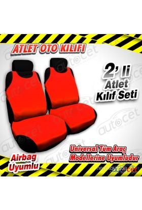 AutoCet Atlet Model Oto Koltuk Kılıfı ( Kırmızı) 3488a