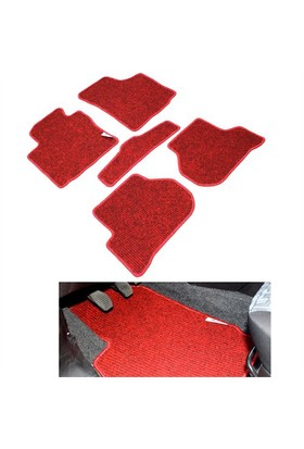 Peugeot 307 Kırmızı Lüx Halı Paspas Seti
