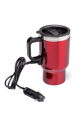 AutoCet Çelik Araç İçi Su Isıtıcı Termos Kupa Bardak 3289a ( Kırmızı )