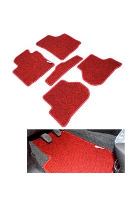 Honda Civic Sd Kırmızı Lüx Halı Paspas Seti 2001-2006