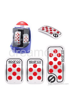 Sparco Corsa Raicing Pedal Seti Kırmızı SPC0406RS