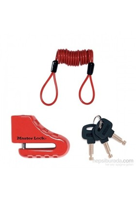 Master Lock 8303 Disk Kilidi + Hatırlatma Kablosu