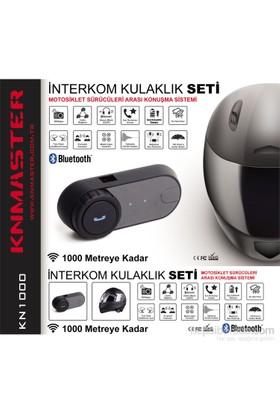 Knmaster Kask Bluetooth Intercom / Tekli / 1000M. / Radyolu