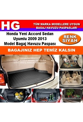 Honda Accord 2009 2013 Siyah Bagaj Havuzu Paspası 38823