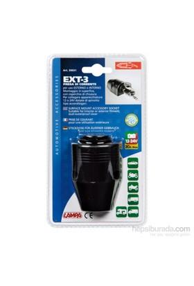 Lampa Ext-3 Su Geçirmez Yüzeye Monte Çakmak Soketi 39031