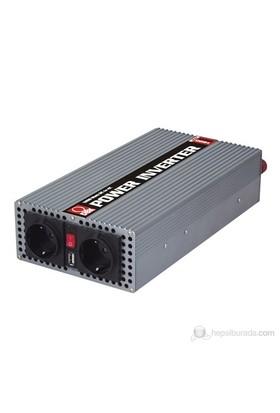 DBK MSI-1200 - 1200 Watt 12-230 Volt USB'li Dönüştürücü (İnvertör)