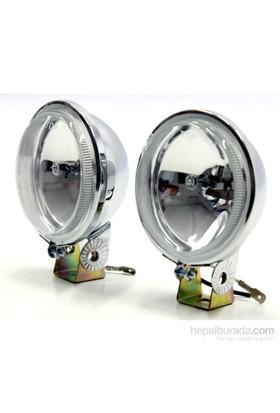 ModaCar MotorsikletKrom Yüzeyli Beyaz Camlı Sis Lambası 751201
