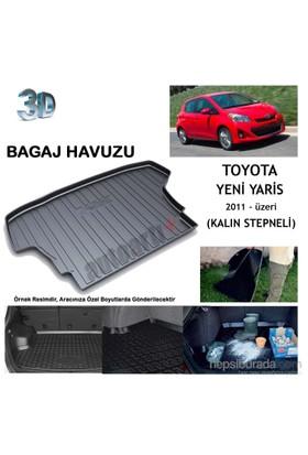 Autoarti Toyota Yaris Kalın Stepneli 2011- Üzeri Bagaj Havuzu-9007725