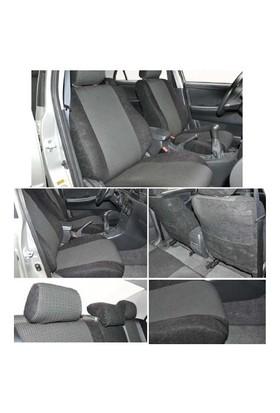 Z tech Volkswagen Caddy 2003 ve sonrası Siyah renk Araca özel Oto Koltuk Kılıfı