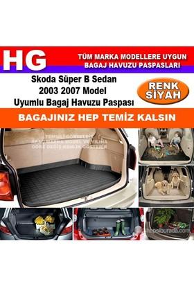 Skoda Süper B 2003 2007 Siyah Bagaj Havuzu Paspası 39083