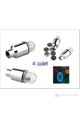 ModaCar 4 Adet Mavi Işıklı Sibop Kapağı 371140