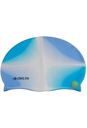 Delta Gökkuşağı Desenli Silikon Deluxe Yüzücü Bonesi