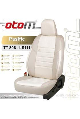 Otom Toyota Aurıs 2013-Sonrası Pasific Design Araca Özel Deri Koltuk Kılıfı Kırık Beyaz-110