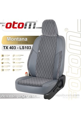 Otom Suzukı Swıft 2006-2011 Montana Design Araca Özel Deri Koltuk Kılıfı Füme-110