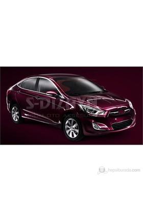 S-Dizayn Hyundai Accent Blue Kapı Cam Çerçevesi 14 Prç. P.Çelik (2011>)