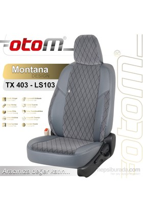 Otom Skoda Super B 2009-2013 Montana Design Araca Özel Deri Koltuk Kılıfı Füme-110