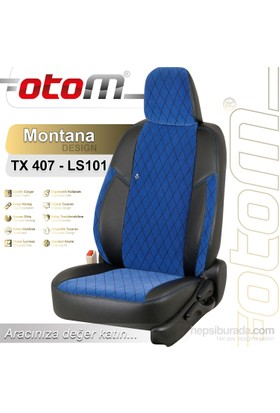 Otom V.W. Polo 2010-Sonrası Montana Design Araca Özel Deri Koltuk Kılıfı Mavi-102