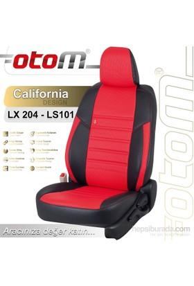 Otom Audı A6 2002-2004 California Design Araca Özel Deri Koltuk Kılıfı Kırmızı-108