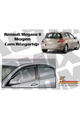 Automix Renault Megane 2 Sedan Mugen Cam rüzgarlığı