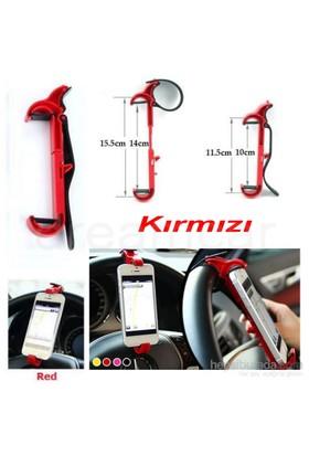 Dreamcar Kırmızı Direksiyon İçi Telefon Tutucu 0132002