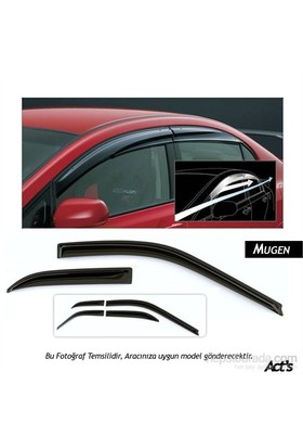 Schwer Mugen Honda Civic (2007-2012)Cam Rüzgarlığı Seti ( 4 Parça Ön-Arka)-8286