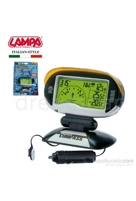 Lampa Dijital 5in1 Pusula+Termometre+Voltmetre 86351