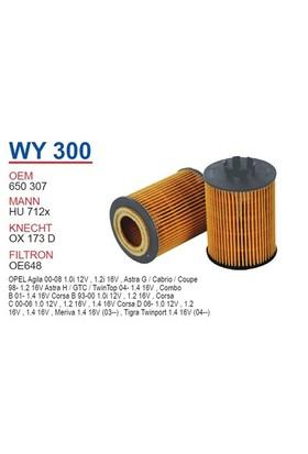 Wunder OPEL Corsa D Kasa 1.2 Yağ Filtresi OEM NO: 650307