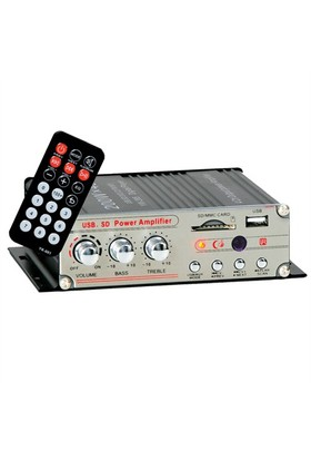 Magicvoice Usb-Sd Girişli 4 Kanal Oto Mobil Anfi
