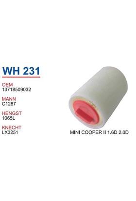 Wunder Mını Cooper 2 Kasa 1.6D Hava Filtresi Oem No:13718509032