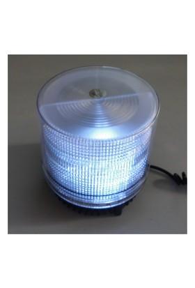Dreamcar Döner Lamba Beyaz Flash Işıklı Mıknatıslı 12 V 3526001
