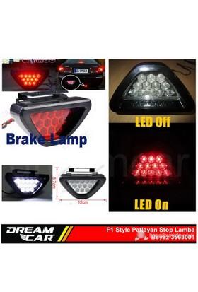 Dreamcar F1 Style Beyaz Flash Patlayan Stop Lamba 12 Led 3563001