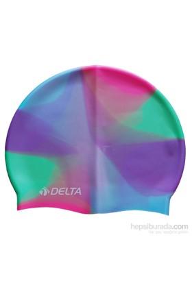 Delta Silikon Deluxe Gökkuşağı Desen Yüzücü Bonesi - 25 Adet
