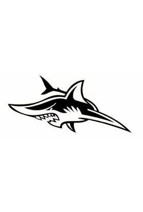 Z tech Köpek Balığı Stickerı 14 x 6 cm