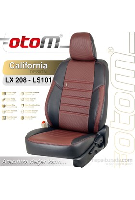 Otom Nıssan Mıcra 2011-Sonrası California Design Araca Özel Deri Koltuk Kılıfı Bordo-110