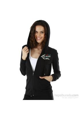 Kappa 1 3026P6 005XL Bayan Kadın İnterlok Sweatshirt Siyah