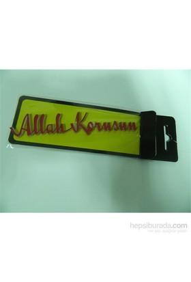 Speed Allah Korusun Sticker 13x2cm Kırmızı
