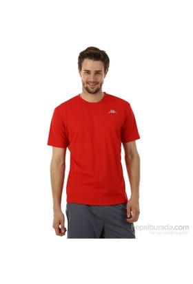 Kappa 1 302Y48 Y32S Erkek Boyuna Çizgili Poly T-Shirt Kırmızı