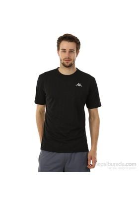 Kappa 1 302Y48 005S Erkek Boyuna Çizgili Poly T-Shirt Siyah